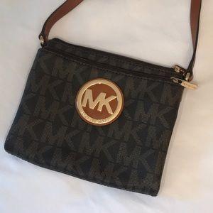 Michael Kors Monogram MK Signature Print Crossbody